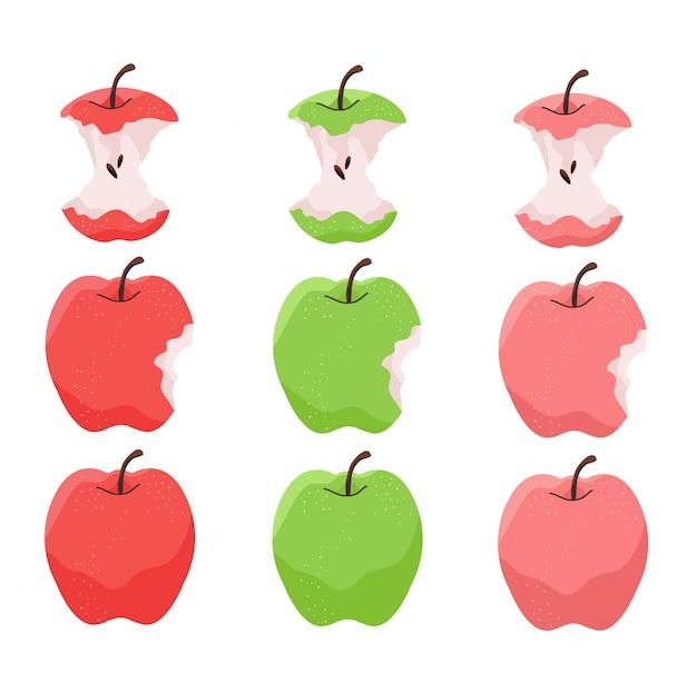 Illustrazione di mela.