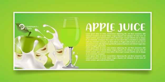 Design di banner prodotto succo di mela