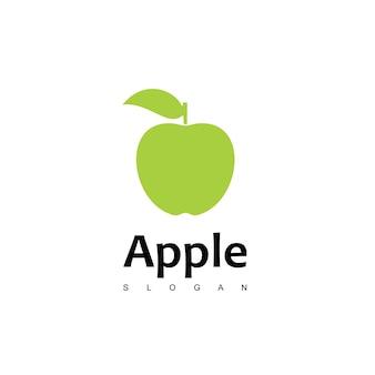 Vettore di disegno del logo di mela