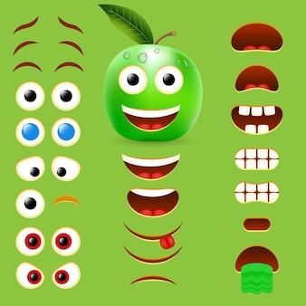 Collezione di design creatore di emoji maschio apple