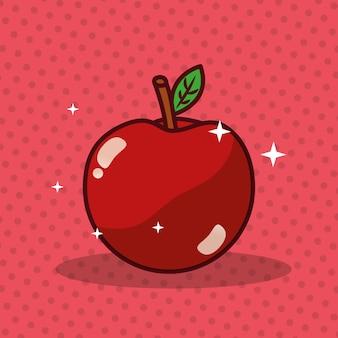 Immagine fresca di dieta di nutrizione della mela