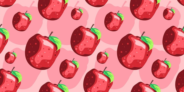 Disegno di vettore del reticolo senza giunte di mela