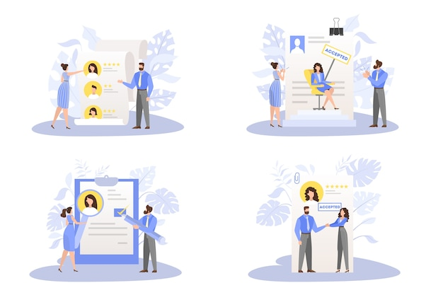 Documento di domanda approvato insieme. idea di lavoro