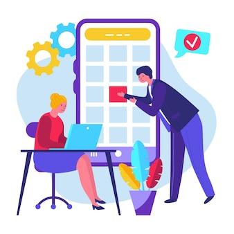 Prenotazione di appuntamenti sul design mobile