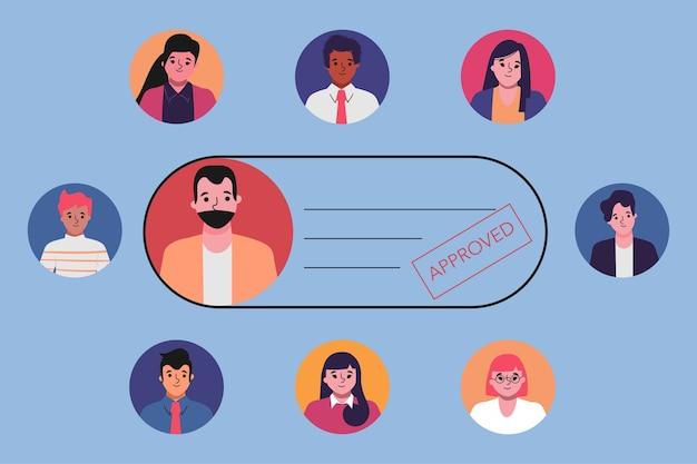 Curriculum umano approvato concetto di colloquio di lavoro.