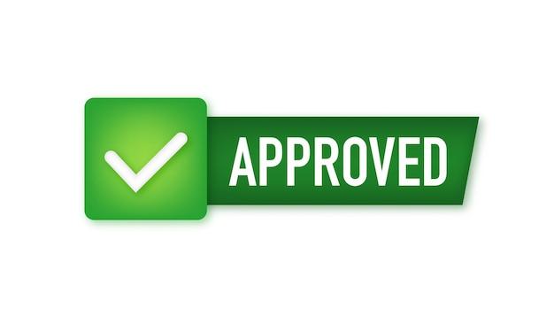 Medaglia approvata timbro rotondo per software e servizi di prodotti approvati e testati