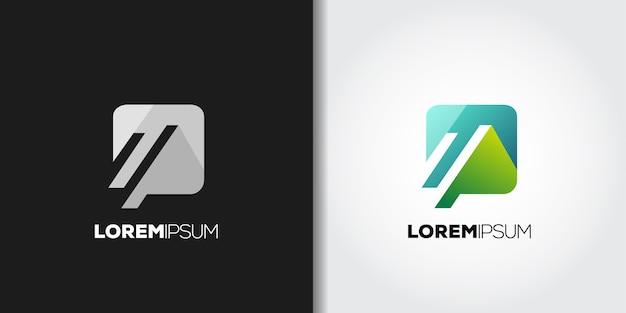 Idea del logo di montagna delle app