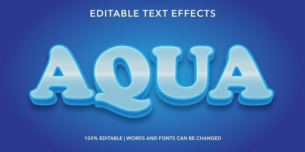 Effetto testo modificabile in stile aqua 3d