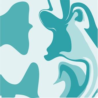 Aqua blue liquid marmo texture pittura a inchiostro abstract background pattern illustrazioni vettoriali