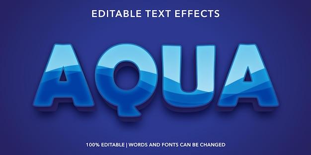 Effetto di testo modificabile aqua