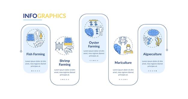 Modello di infografica di acquacoltura