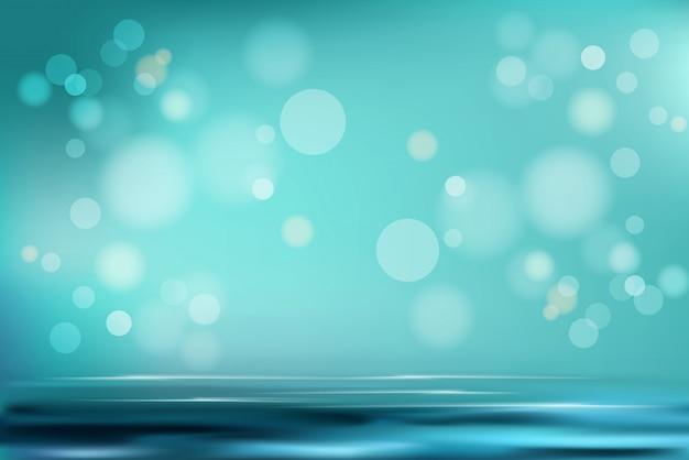 Concetto realistico dell'illustrazione del fondo astratto molle gradiente dell'acquamarina