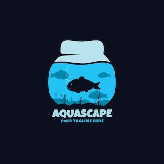 Logo della modalità oscura di aquascape