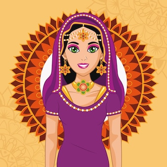 Sposa e cornice araba