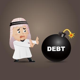Illustrazione di uomini d'affari arabi