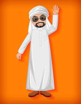 Personaggio dei cartoni animati uomo arabo