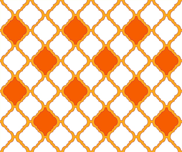 Arabesque modello tradizionale arabo come sfondo di tessuto senza cuciture ornamento etnico in stile islamico