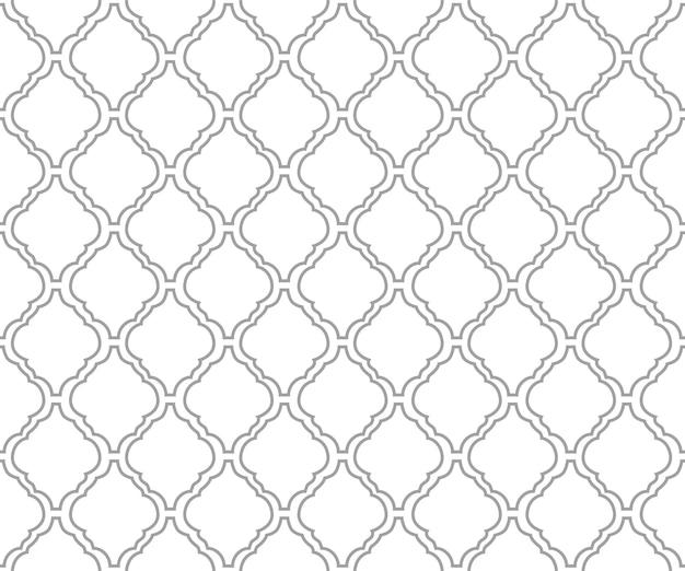 Sfondo di piastrelle arabesche per sfondo senza cuciture in tessuto in stile islamico o marocchino