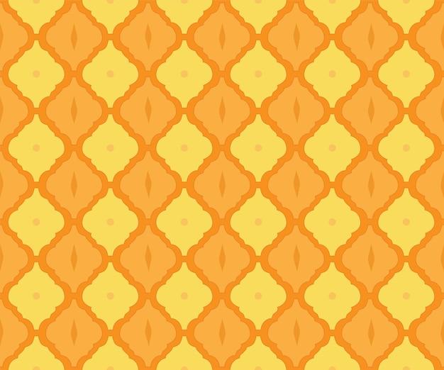 Motivo a piastrelle arabesco come sfondo etnico in stile arabo per tessuto senza cuciture a mosaico islamico marocchino
