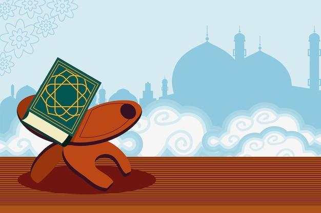 Corano del libro sacro della città araba