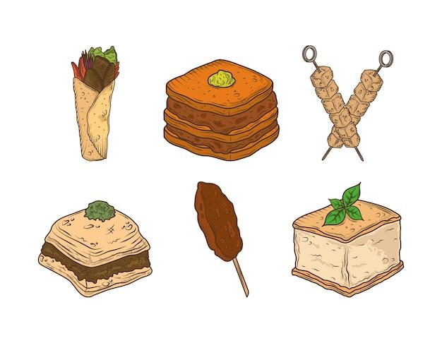 Set di cibo arabo