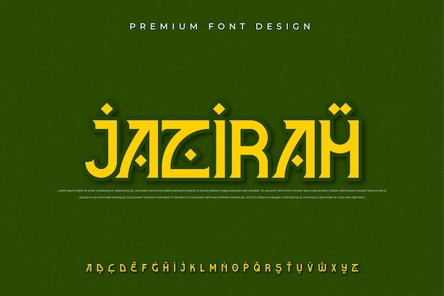Carattere arabo moderno alfabeto