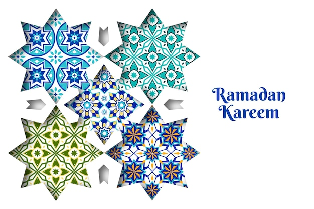 Sfondo ornamentale arabo in stile carta