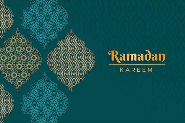 Sfondo ornamentale arabo in stile carta Vettore Premium