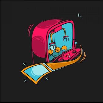 Illustrazione del gioco arcade