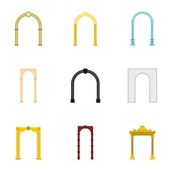 Set arco, stile piatto