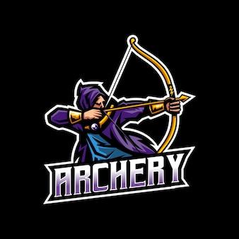 Logo esport di tiro con l'arco