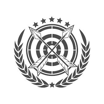 Tiro con l'arco logo design