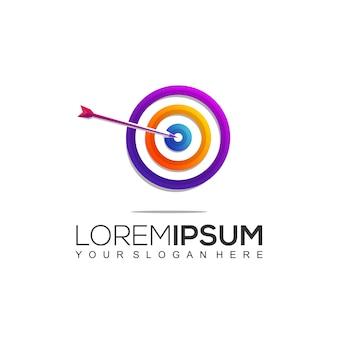 Modello di disegno con logo del club sportivo di tiro con l'arco