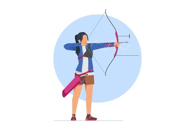 Illustrazione vettoriale di tiro con l'arco