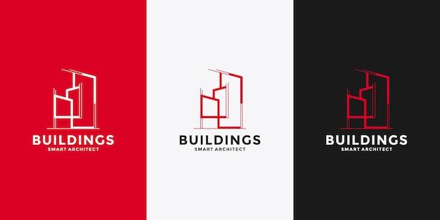 Architetto che costruisce il design del logo per la tua attività