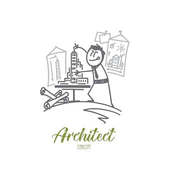 Illustrazione di concetto di architetto