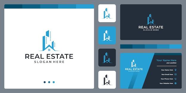 Logo dell'edificio architettonico con modello di progettazione del logo immobiliare.
