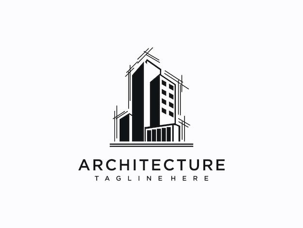 Progettazione del logo architettonico, edile, della casa e della proprietà
