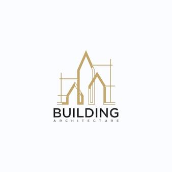 Architettura, costruzione, ispirazione per il design del logo