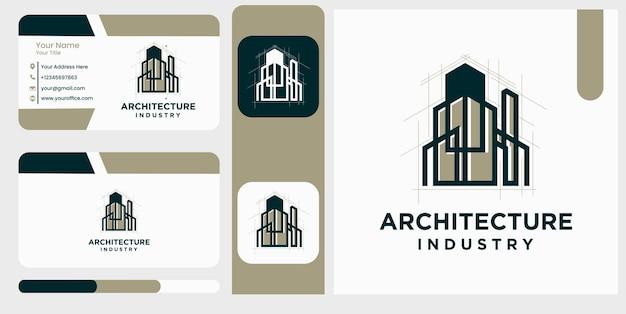 Industria dell'architettura modello di progettazione di logo di simbolo di costruzione domestica