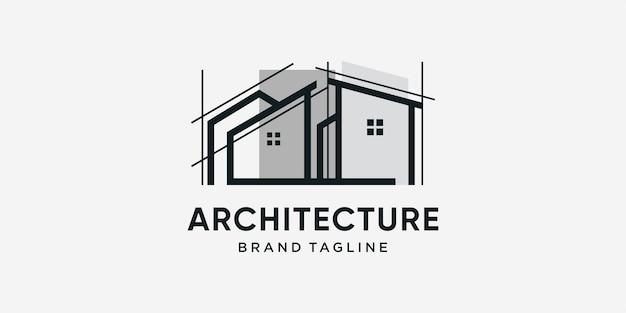 Logo di architettura con un concetto moderno e alla moda