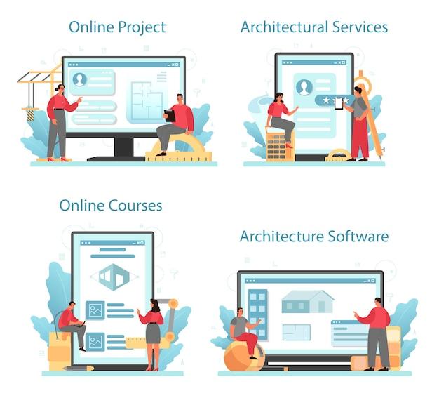 Servizio online di architettura o set di piattaforme