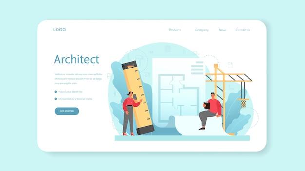 Banner web di architettura o pagina di destinazione