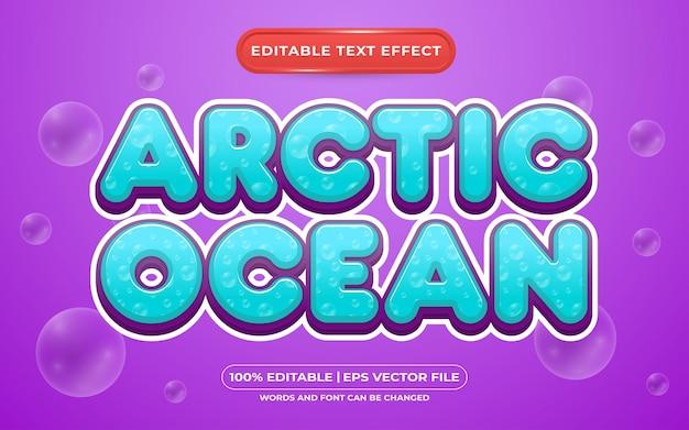 Stile modello effetto testo modificabile oceano artico