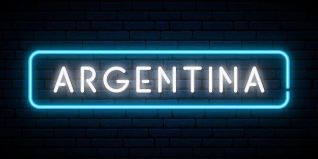 Insegna al neon dell'argentina