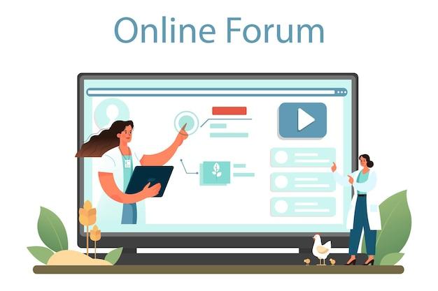 Argonomist servizio online o scienziato della piattaforma che effettua ricerche sull'agricoltura