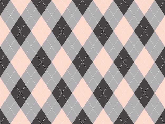 Modello argyle senza soluzione di continuità. tessuto trama di sfondo. ornamento classico argill