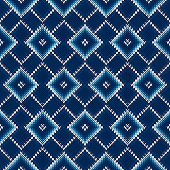 Argyle seamless knitting pattern.