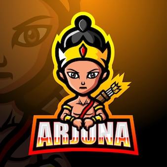 Illustrazione di esport della mascotte di arjuna