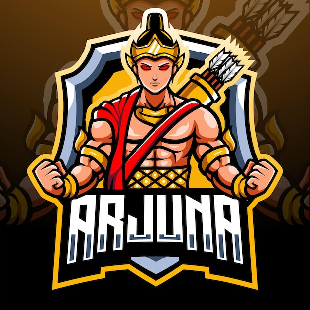 Mascotte di arjuna. design del logo esport